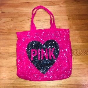 Victoria's Secret Pink Sequence Tote Beach Bag